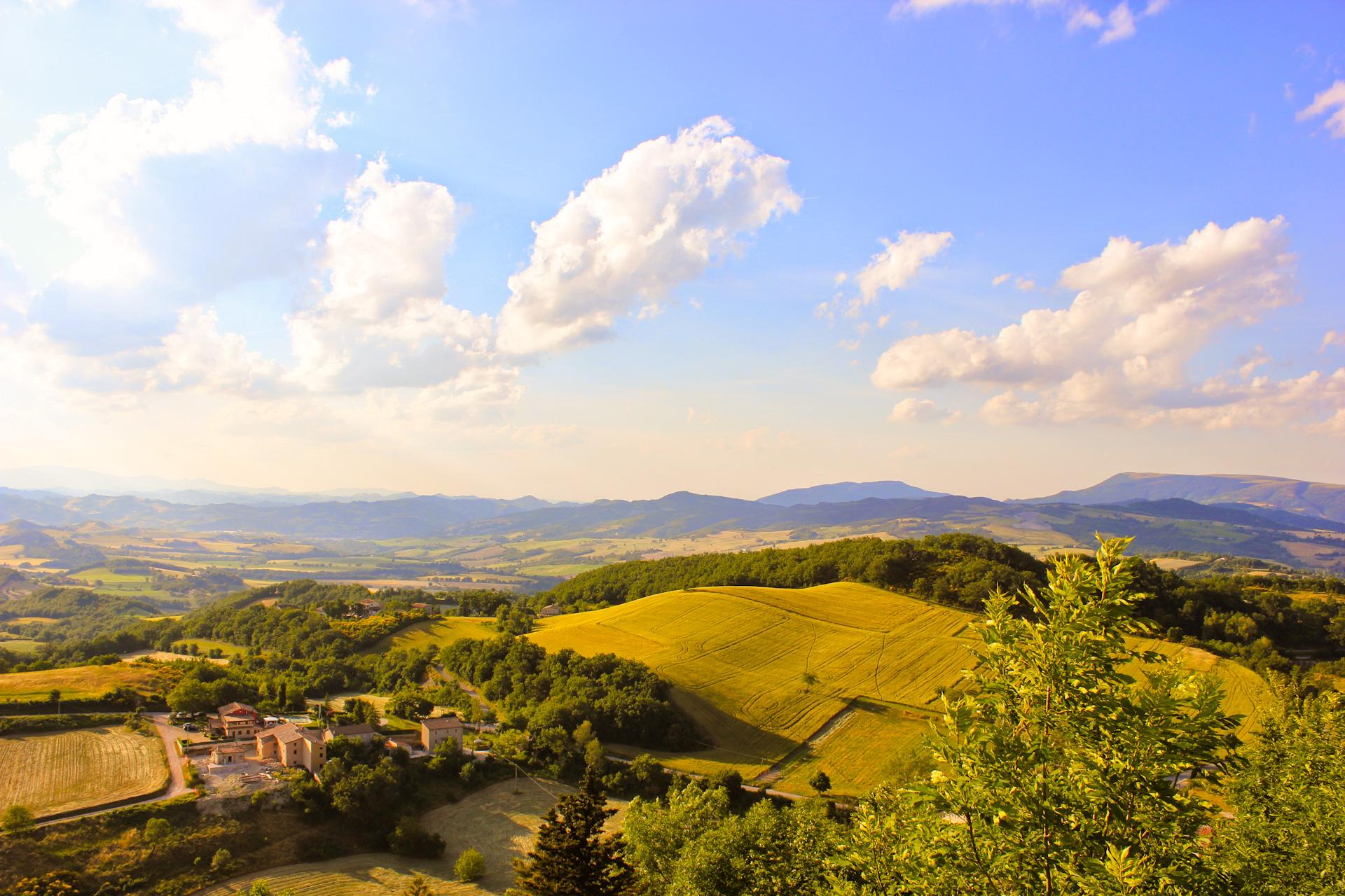 Italiaanse heuvels Le Marche